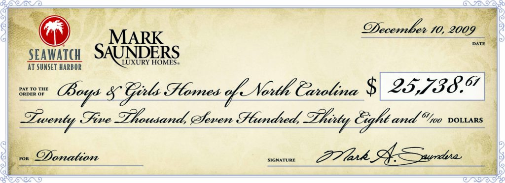 mark saunders homes north carolina